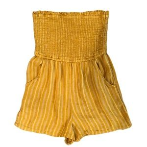 AEO Smocked Romper with Pockets
